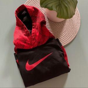 Nike Hooded Sweatshirt Black & Red Boys 1454
